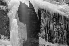 Ice cascade Royalty Free Stock Images