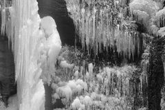 Ice cascade Stock Images
