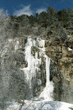 The ice cascade in mountains. Royalty Free Stock Image