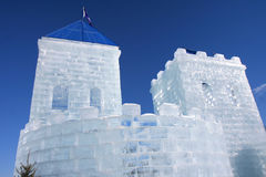 Ice castle Stock Images