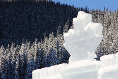 Ice castle in the Canadian Rockies royalty free stock photography