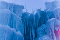 Ice Castle Fragments. Large sections of icicles in Winter Royalty Free Stock Photography