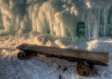 Ice Castle just outside of the Twin Cities Minnesota in Stillwater, Wisconsin royalty free stock image