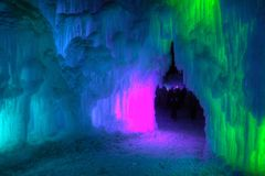 Ice Castle just outside of the Twin Cities Minnesota in Stillwater, Wisconsin stock photos