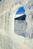 Ice castle on Lake Louise Royalty Free Stock Image