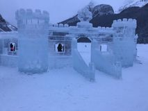 Ice Castle In The Mountains stock photo