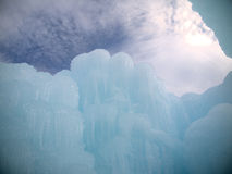 Ice Castle and Sky in New Hampshire Royalty Free Stock Photo