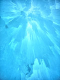 Ice Castle and Sky in New Hampshire Stock Photo