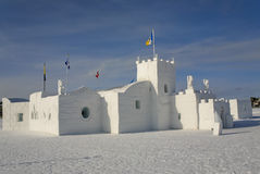 Ice Castle, Yellowknife, NWT, Canada. The Yellowkinfe ice castle. It is quite large so that people can walk around in it Stock Photos