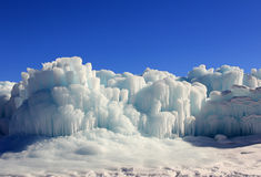 Ice castles. Stock Photos