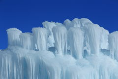 Ice castles. Royalty Free Stock Photos