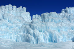 Ice castles. stock image