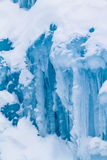 Ice Castles icicles and ice formations Stock Image