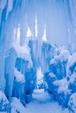 Ice Castles icicles and ice formations Royalty Free Stock Image