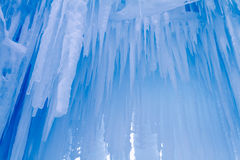 Ice Castles icicles and ice formations Royalty Free Stock Photography