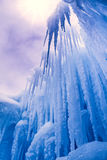 Ice Castles icicles and ice formations Royalty Free Stock Images