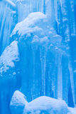 Ice Castles icicles and ice formations royalty free stock photo