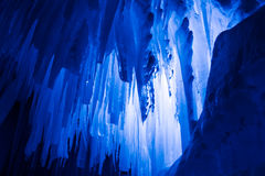 Ice Castles icicles and ice formations Stock Photo