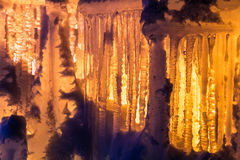 Ice Castles icicles and ice formations Royalty Free Stock Photos