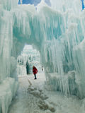 Ice Castles. Of Silverthorne, Colorado Stock Photo
