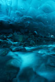 Ice cave in alaska Stock Image