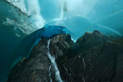 Ice cave in alaska Stock Photography