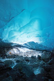 Ice cave in alaska. Blue glacier ice cave near Juneau, Alaska royalty free stock photography