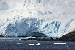 Ice cave - Antarctic Peninsula Royalty Free Stock Photos