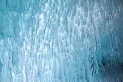 Ice cave on Baikal lake stock photography