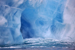 Ice cave in beautiful iceberg Stock Photo