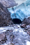 Ice Cave entrance in Iceland Stock Images