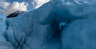 Ice cave. Fox glacier, New Zealand Royalty Free Stock Photo