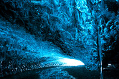 Ice cave in Iceland. Royalty Free Stock Images