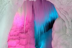 Ice cave. The inner scenery of Ten Thousand Ice Cave in Ninwu, Shanxi, China royalty free stock photos