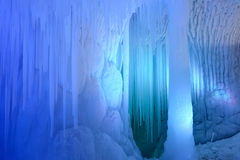 Ice cave. The inner scenery of Ten Thousand Ice Cave in Ninwu, Shanxi, China royalty free stock image
