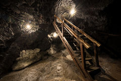 Ice cave. In Kawaguchiko area, Yamanashi, Japan royalty free stock image
