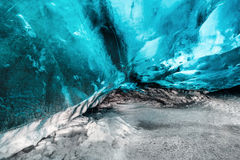 Ice Cave. Landscape in Iceland Royalty Free Stock Image