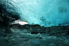 Ice Cave. Mendenhall Glacier Ice Cave stock image