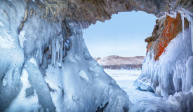 Ice cave royalty free stock photography
