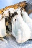 Ice cave on Lake Baikal. Ice cave on Olkhon Island at Baikal Lake, Siberia, Russia royalty free stock photos