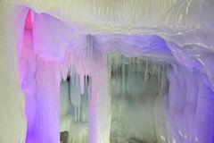 Ice cave. The scenery of Ten Thousand Ice Cave in Ninwu, Shanxi, China royalty free stock photo