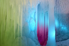 Ice cave. The scenery of Ten Thousand Ice Cave in Ninwu, Shanxi, China stock image