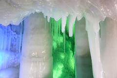 Ice cave. The scenery of Ten Thousand Ice Cave in Ninwu, Shanxi, China royalty free stock images