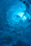 Ice cave in the Vatnajokull Glacier IcelandAn. An ice cave located near the Jokulsarlon lagoon in the Vatnajokull glacier in south Iceland. The glacier is the royalty free stock photo