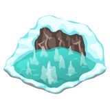 Ice cave on a white background. Vector Royalty Free Stock Photos