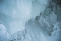 Ice cavern in the evening royalty free stock images