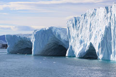Ice caves. In the ilulissat fiord Stock Images