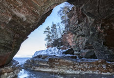 Ice caves Stock Image