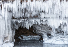 Ice caves royalty free stock photos