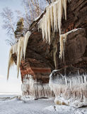 Ice caves of Lake Superior Stock Images